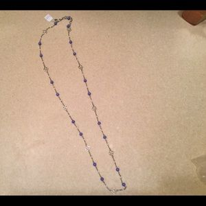 Long necklace with blue. Lia Sophia